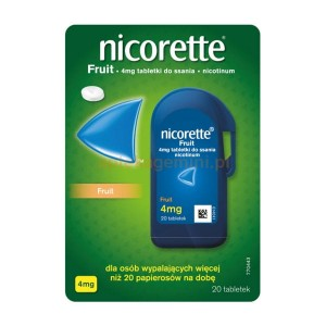 Nicorette fruit 4 mg 20 tabl do ssania