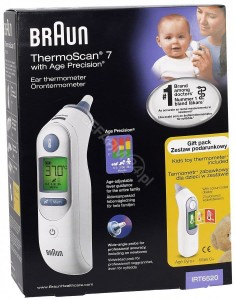 BRAUN IRT6520 THERMOSCAN 7 Termometr elektroniczny do ucha z Age Precision®