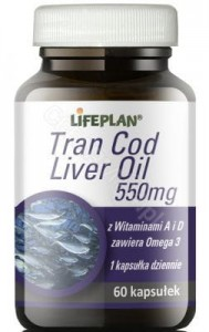 TRAN COD LIVER OIL 550mg LIFEPLAN 60 kaps